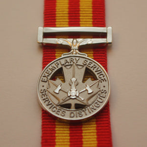 Canadian Exemplary Service Medal, Fire, Miniature