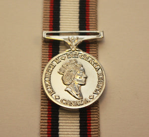 Canadian South-West Asia Service Medal (SWASM) with Afghanistan Bar, Miniature