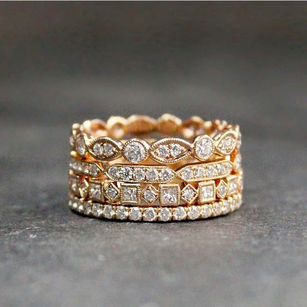 House collection ring stack