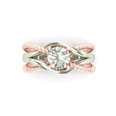 mixed-metal engagement ring
