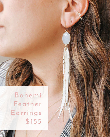 Bohemi Feather Earrings