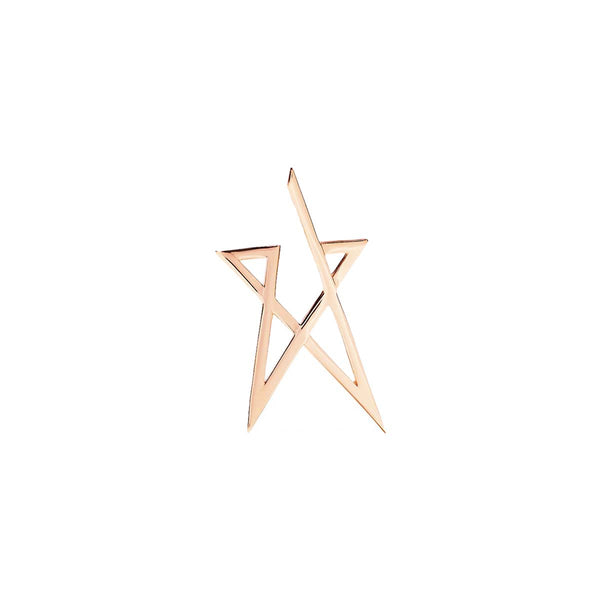 Struck Doodle Small Star Stud