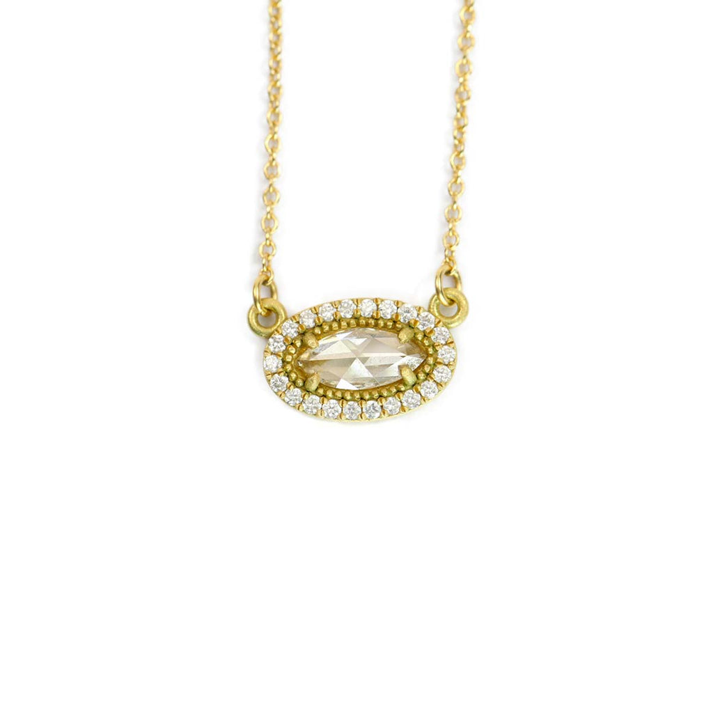 Oval Rose Cut Necklace
