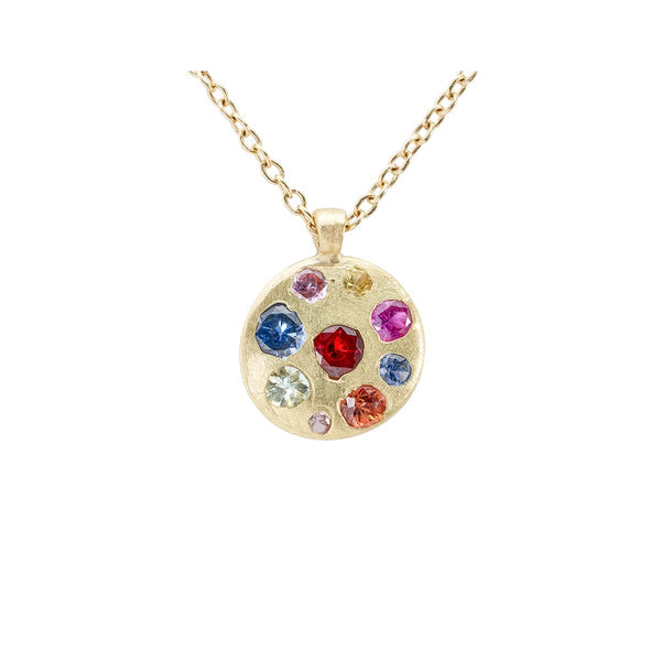 Celeste Disc Necklace