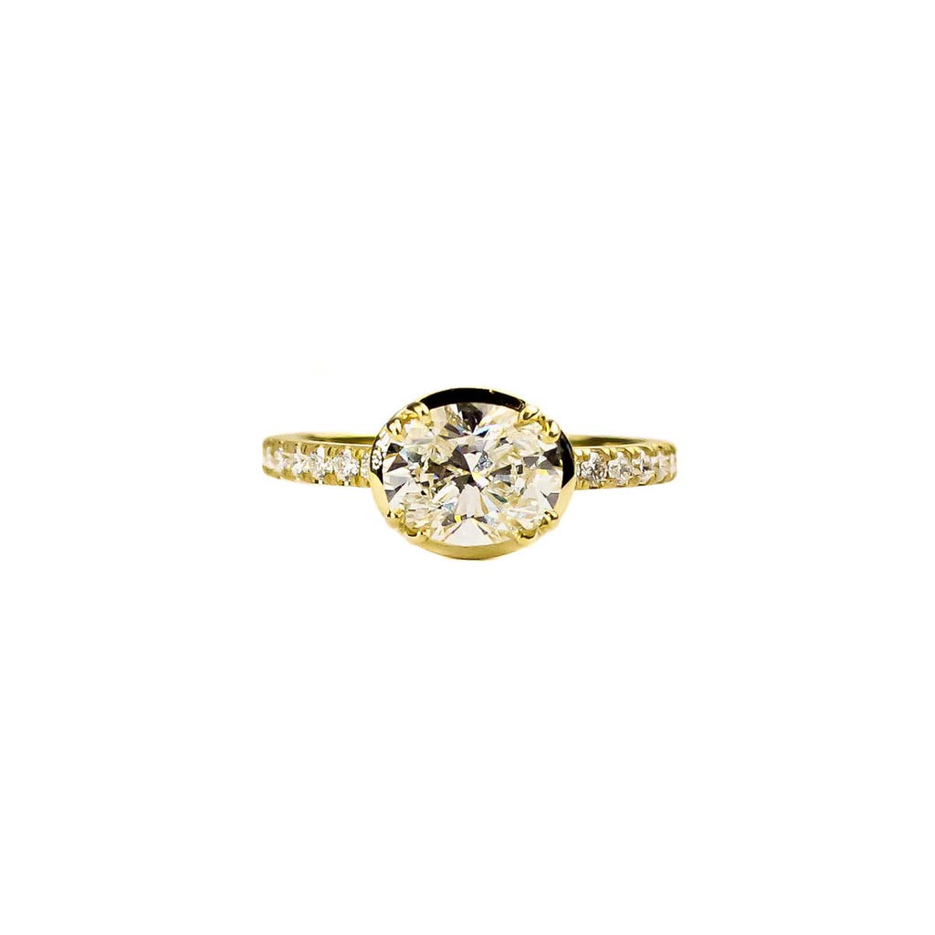 Oval Signature Pave Ring