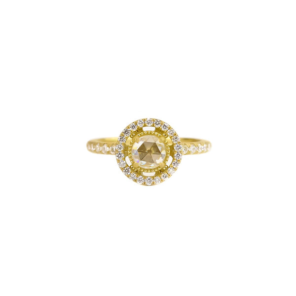 Signature Halo Ring with Diamond Band