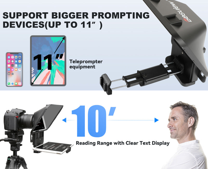 Desview T3 Teleprompter features