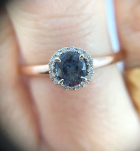 Burmese Grey Blue Spinel