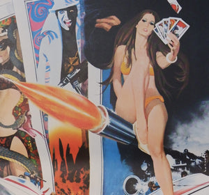 """Live and Let Die"", Japanese James Bond Movie Poster, Original Release 1973, B2 Size"