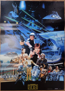 """Star Wars: Return of the Jedi"", Original Release Japanese Movie Poster 1983, B2 Size"