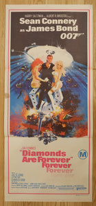 """Diamonds are Forever"", Original Release Australian Poster 1971, Daybill Size"
