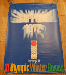 """Sapporo 1972 Winter Olympics Poster"", Vintage 1972 Iconic Poster, B1 Size"