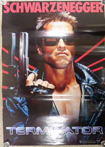 """The Terminator"", Original Release Japanese Video Poster 1980`s, B2 Size"