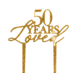 50 Years loved - Cake Topper - Zoi&Co