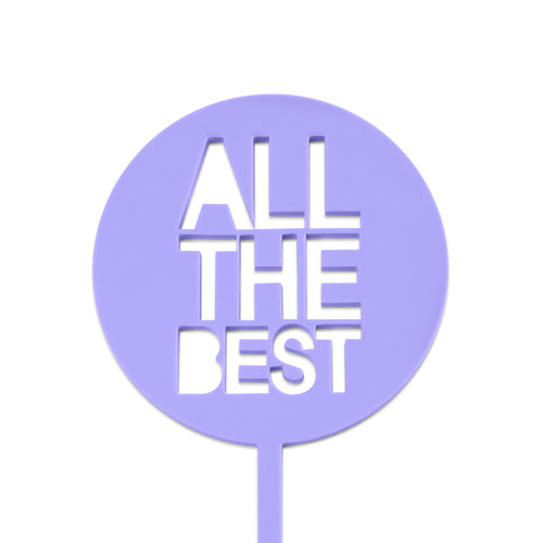 All the best mini paddle cake topper front view zoiandco