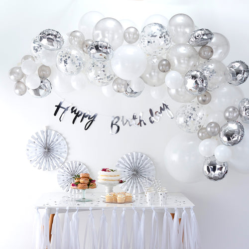 Silver - Balloon Arch Kit - Zoi&Co