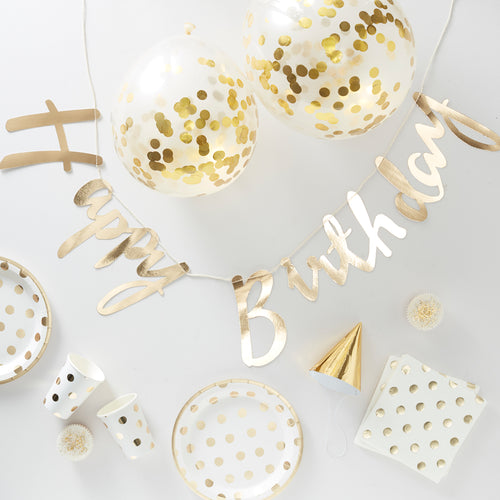 Birthday Gold Foiled - Party in a Box - Zoi&Co