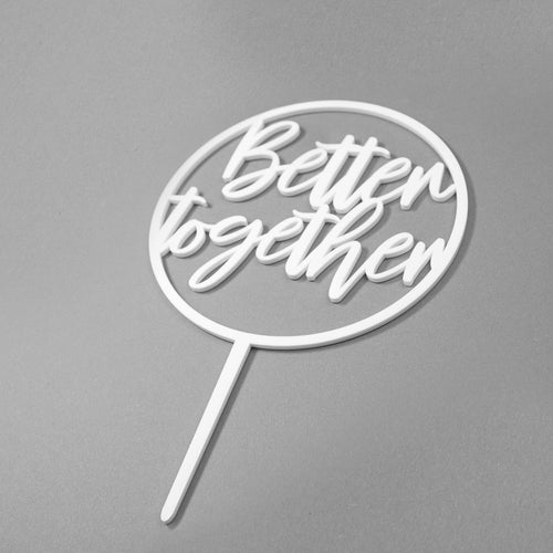 Better Together Hoop Cake Topper Side View Zoiandco
