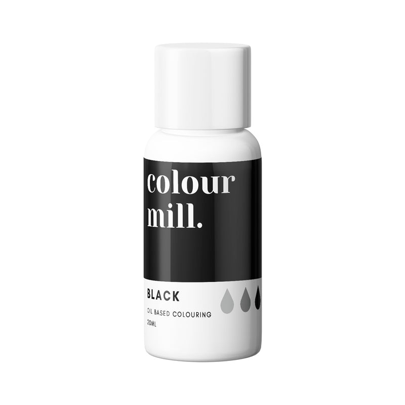 Black 20ml - Oil Based Colouring - Zoi&Co