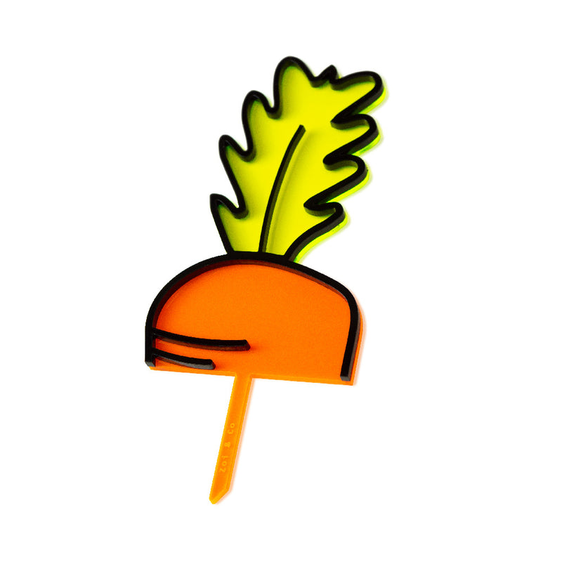 Carrot Top - Easter Cake Topper - side view - Zoi&Co