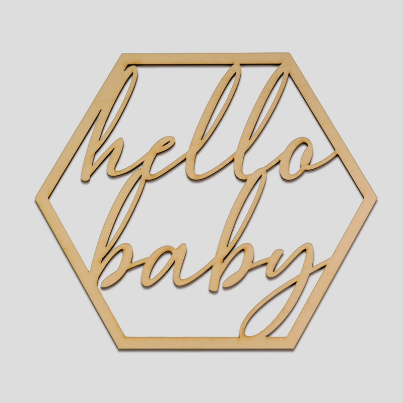 Hello Baby - Baby Shower Sign - Zoi&Co