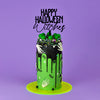 Happy Halloween Witches Cake Topper on Cake by Carola Bruno - Zoiandco