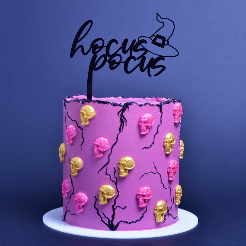Hocus Pocus  Cake Topper on Cake by Carola Bruno - Zoi&Co