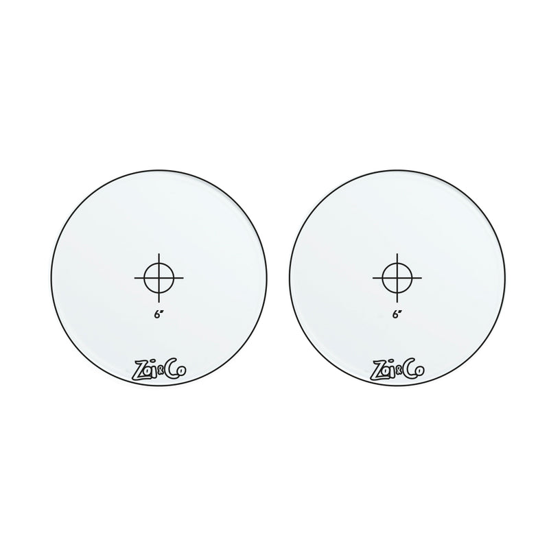 transparent acrylic round cake frosting discs shape example