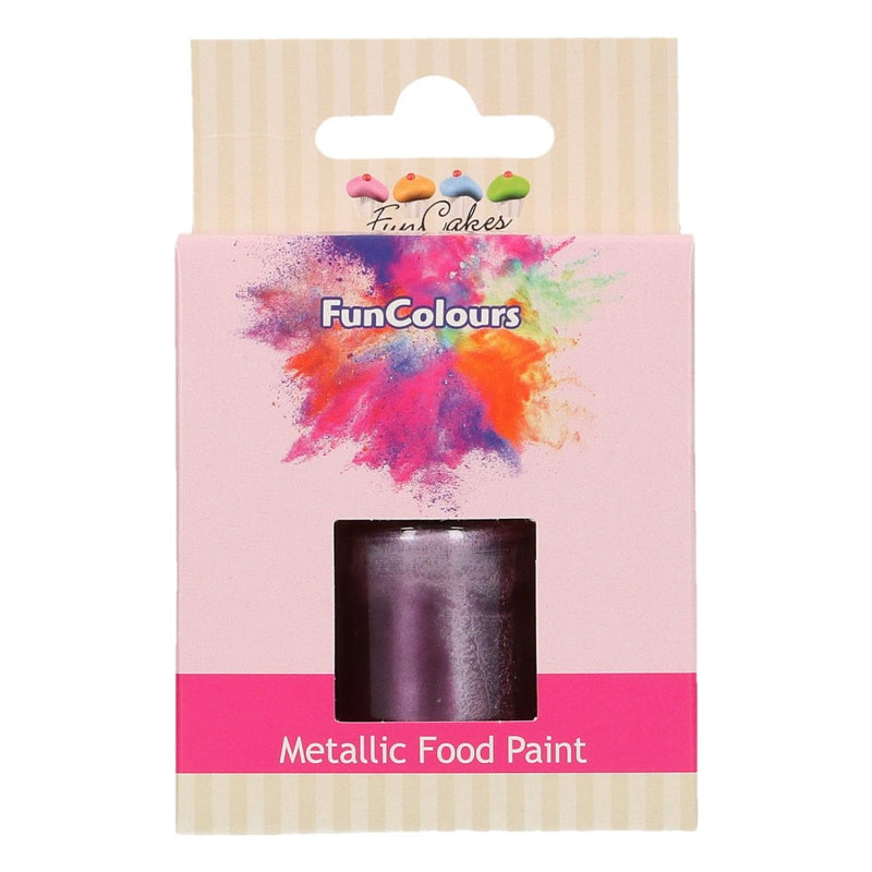 FunColours Metallic Food Paint -Purple- 30ml