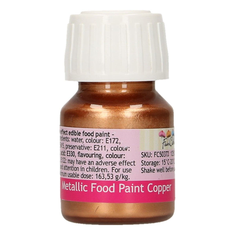 FunColours Metallic Food Paint -Copper- 30ml