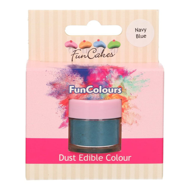 Edible FunColours Dust -Navy Blue- 1g