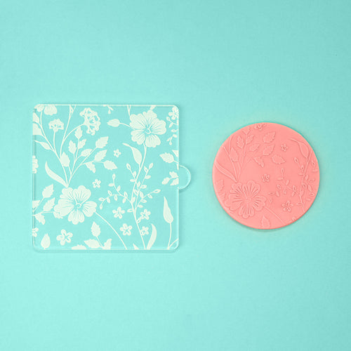 Blooming Ways - Tile Embosser w/ example - front view - Zoi&Co