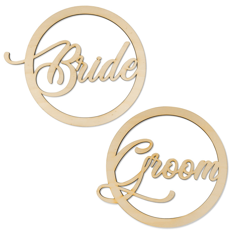Bride Groom - Wooden Hoop Set Front View - Zoi&Co