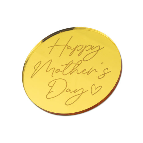 Happy Mother's Day - Mothers Day Cake Charm - Front View Zoi&co
