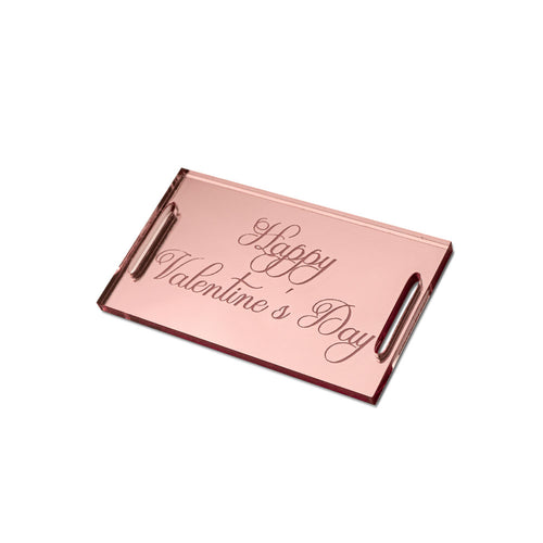Happy Valentine's Day Classic Rectangular Gift Tag Side View Zoiandco