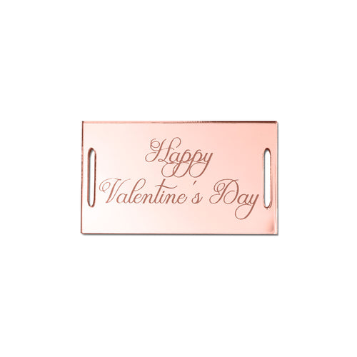 Happy Valentine's Day Classic Rectangular Gift Tag Front View Zoiandco