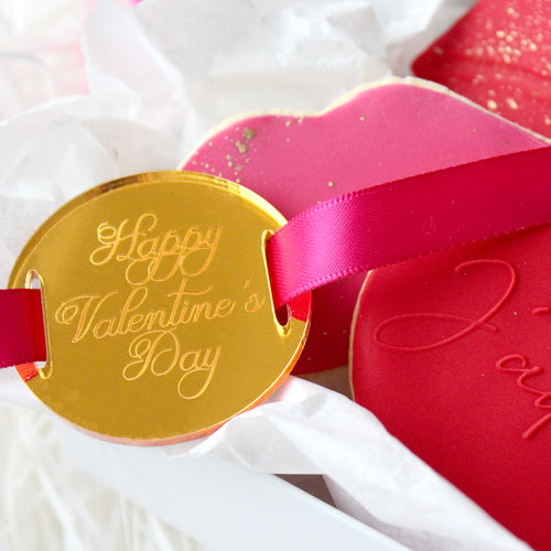 Happy Valentine's Day Classic Round Gift Tag Promo Pic