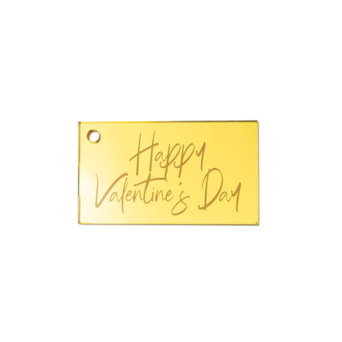 Happy Valentine's Day Mona Rectangular Gift Tag Front View Zoiandco