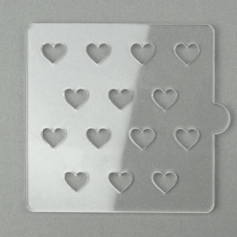 large hearts - tile cookie and fondant embosser . zoi&co