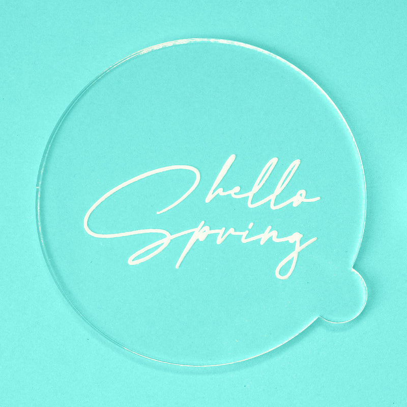 Hello Spring - Easter Embosser - front view - Zoi&Co