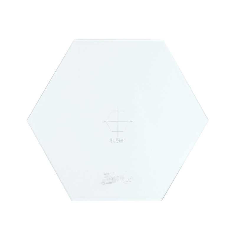 Transparent acrylic hexagon frosting disc