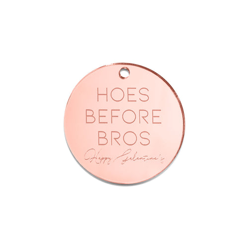 Hoes before Bros Galentine's - Gift Tag -Front View - Zoiandco