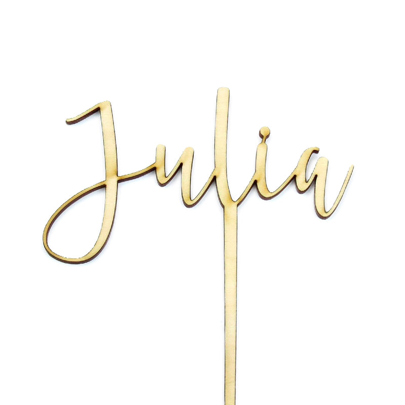 Single Name - Cake Topper - Zoi&Co