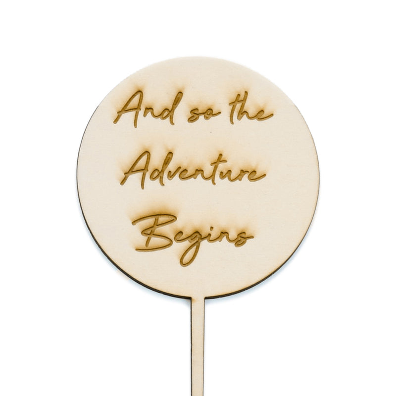 And so the Adventure Begins - Cake Topper - Zoi&Co