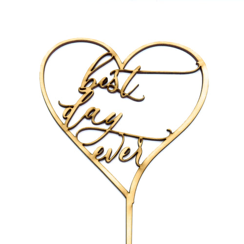 Best Day Ever w/Heart- Cake Topper - Zoi&Co