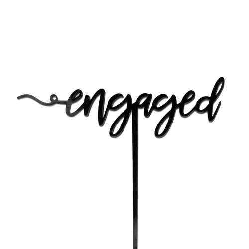 Engaged - Cake Topper - Zoi&Co