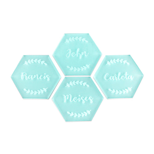 Hexagon Wreath - Place Card - Zoi&Co