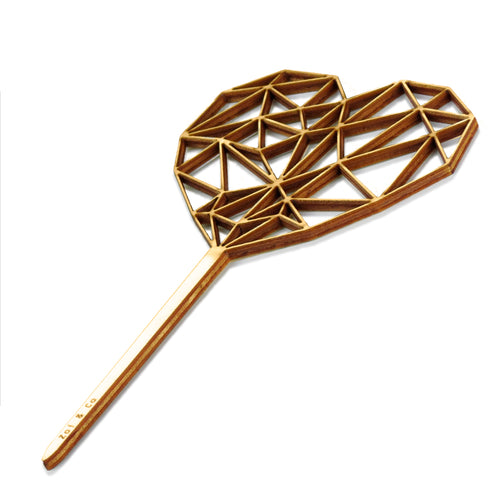 Geometrical Heart - Cake Topper - Zoi&Co