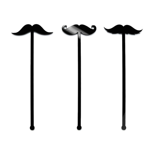 Mustache - Drink Stick Set - Zoi&Co