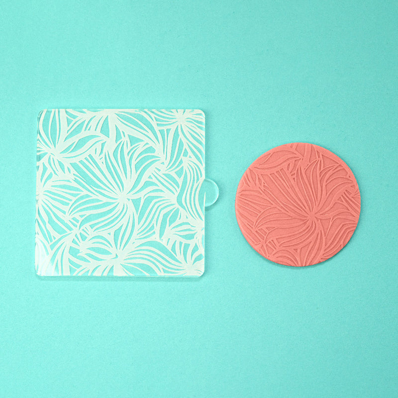 Wavy Greens - Tile Embosser w/ example - front view - Zoi&Co